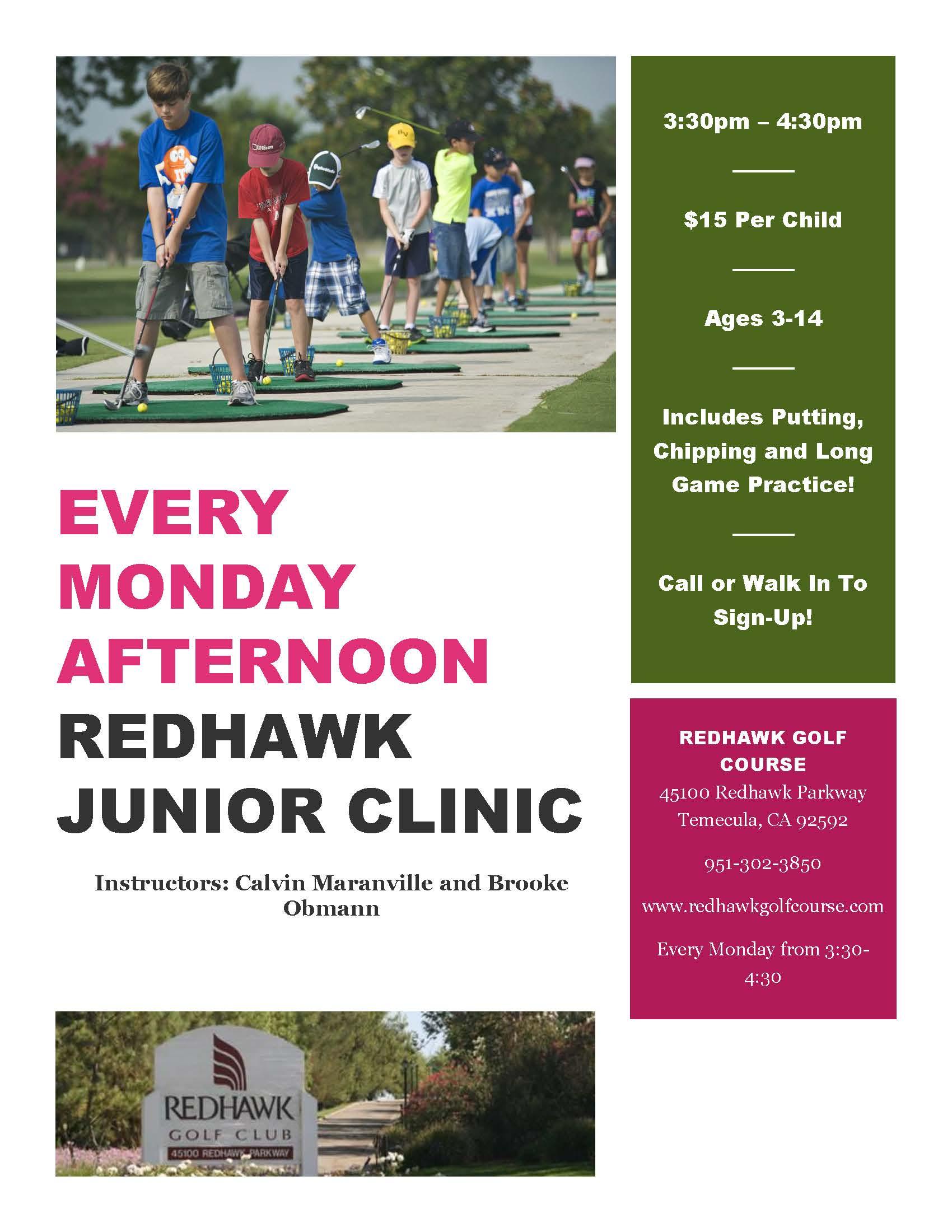Junior Clinic Flyer